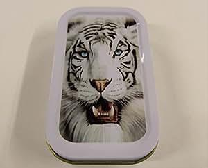 """1oz """"diseño de tigre blanco de Bengala de tabaco/Bolsillo/Lata De Stash + 2Mascotte verde estándar folletos Combo se vende por Trendz"""