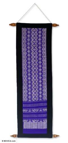NOVICA  Wall Hanging, Purple 'Purple Hyacinth'