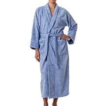 Unisex Terry Cloth Robe - 100% Long Staple Cotton Hotel/Spa by ExceptionalSheets, Medium, Light Blue