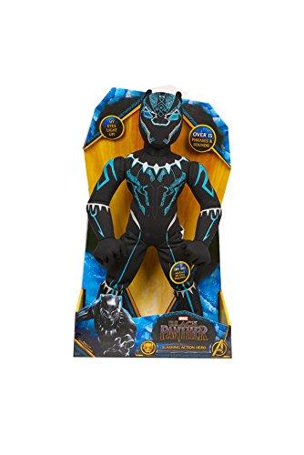 (Marvel 26496 Black Panther Slashing Action Plush, 14