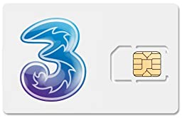 3 UK Data SIM Card, Works Immediately. No registration required! 500MB, 1GB, 3GB, and 7GB Upgrades Available! FREE VoIP Calls!