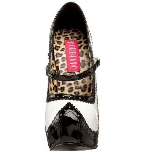 sizes 3 high 02 Patent 9 Black White heels sexy 5 Bordello burlesque Teeze 6Y5q0