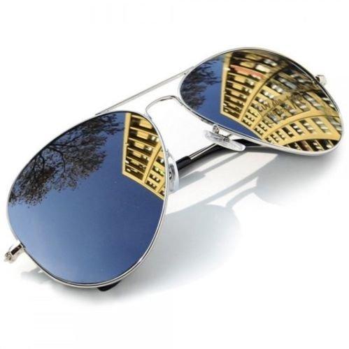 Aviator Sunglasses Vintage Mirror Lens New Mens Women Fashion Frame Retro - Reign Sunglasses