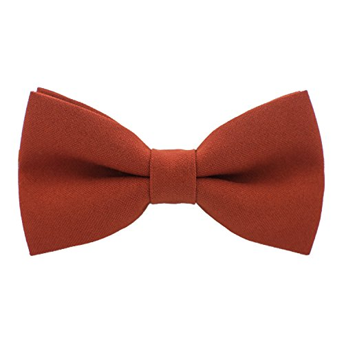 Classic Pre-Tied Bow Tie Formal Solid Tuxedo, by Bow Tie House (Large, ()