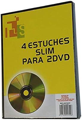 Real star Pack de 4 Estuches Slim para 2 DVD´s de Color Negro: Amazon.es: Hogar
