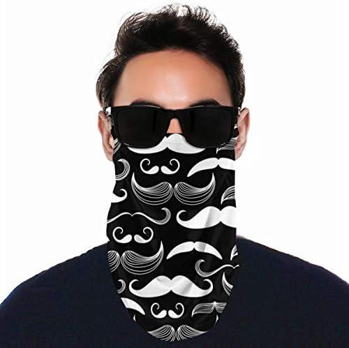 フェイスカバー Uvカット ネックガード 冷感 夏用 日焼け防止 飛沫防止 耳かけタイプ レディース メンズ Cute Black White Mustache