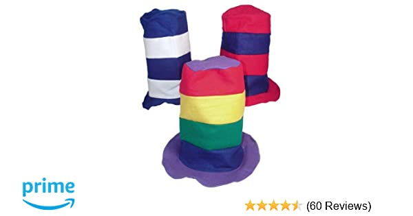4bac4ef582589 Amazon.com  Fun Express Stovepipe Party Hat Assortment (1 dz)  Toy   Toys    Games