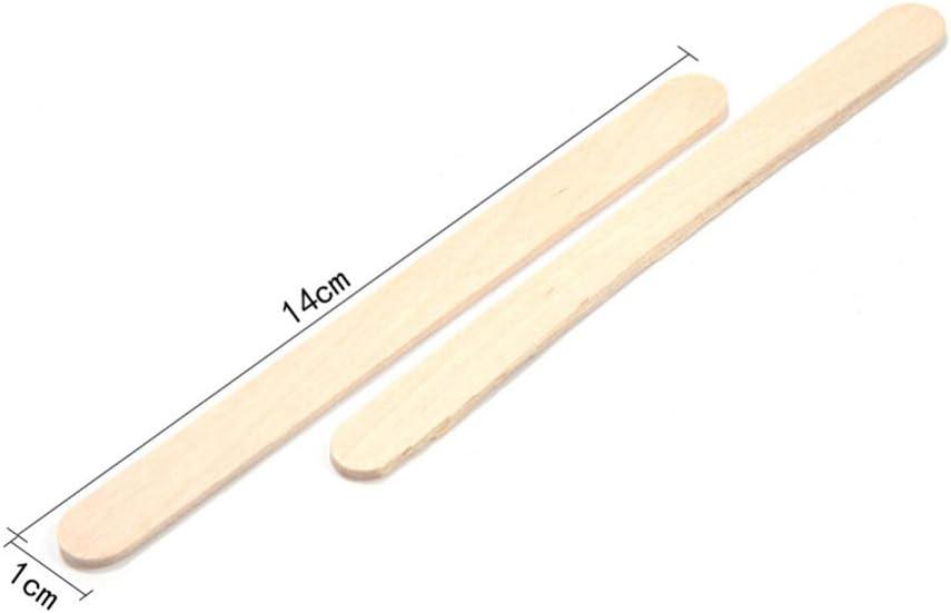 B/âtons de glace 50/pi/èces en bois B/âtonnet Ice Pop B/âtons enfants DIY Main Artisanat dart en bois naturel 6.5cmx1cm bois
