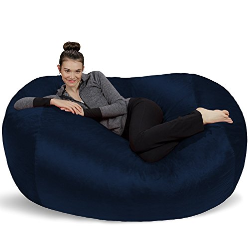 Sofa Sack - Plush Bean Bag Sofas with Super Soft Microsuede Cover - XL Memory Foam Stuffed Lounger Chairs for Kids, Adults, Couples - Jumbo Bean Bag Chair Furniture - Navy 6