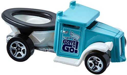 Amazon.com: Hot Wheels 2017 Experimotors Gotta Go (Toilet Car) 101/365, Turquoise: Toys & Games