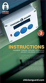 Coop Accessory with 3 Year Warranty Premium ChickenGuard Waterproof Automatic Chicken Coop Door Opener//Closer with Timer//Light Sensor Plus Predator Resistant Self Locking Pop Hole Door Kit