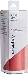 "Cricut 2007114 Joy Smart Vinyl - Permanent - 5.5"" x 48"", Adhesive Decal Roll - Tomato Red"