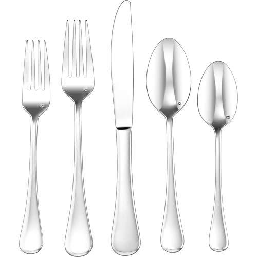 Cuisinart CFE-20PMIL 20 Piece Milan Elite Flatware Set, Silver ()