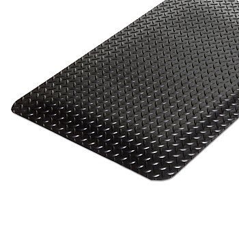Workers-Delight Deck Plate Anti-Fatigue Mat, Black with Yellow (4 ()