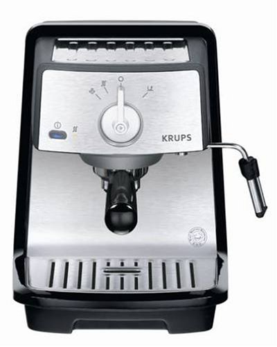 krups xp4030 pump espresso machine black gourmet coffee equipment. Black Bedroom Furniture Sets. Home Design Ideas