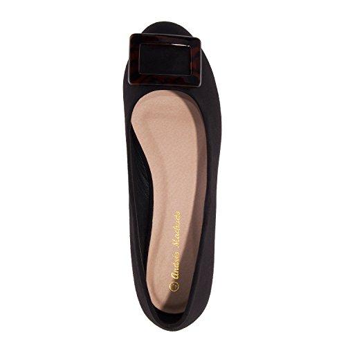 Andres 10 Semsket 8 ballet Patent Machado 5 Leiligheter Semsket Til 45 Am5223 Svart Eu large Med Uk Størrelser Detail I 42 1q1pr