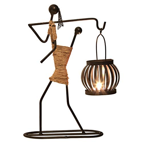 Zxb-shop- Candelabras Wrought Iron Candle Holder Candlelight Dinner Props Candlestick Creative Home Furnishings (Color : C)