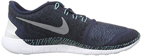 Nike Men's Free 5.0 Running Shoe Obsdn/Rflct Slvr/Grn shopping online cheap online lMWDp