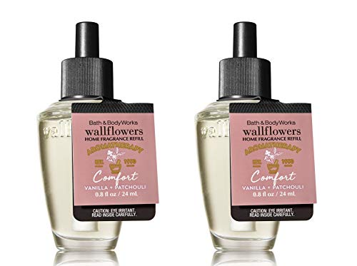Bath and Body Works Aromatherapy Comfort Vanilla Patchouli Wallflowers 2-Pack Refills (1.6 fl Oz Total)