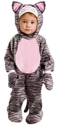 (Fun World Little Stripe Kitten Toddler Costume, Large 3T-4T,)