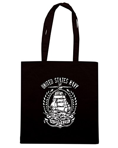 T-Shirtshock - Bolsa para la compra TM0670 us navy united states navy Negro
