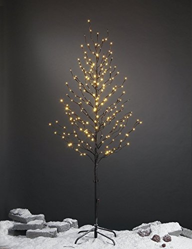 Lightshare 6Ft 240L LED Star Light Tree, Home/Festival/Party/Christmas,Indoor and Outdoor Use,Warm - Beverage Set Lighted