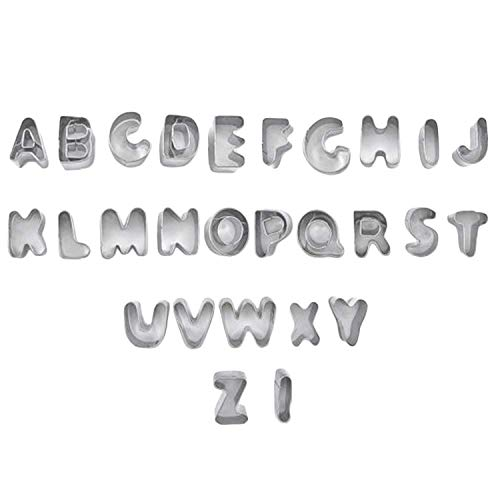 KABB Alphabet Cookie Cutters Set, Stainless Steel