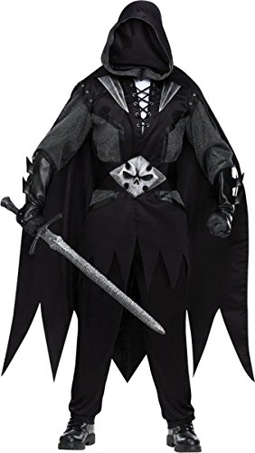 Fun World Men's Evil Knight Costume, Black, Standard