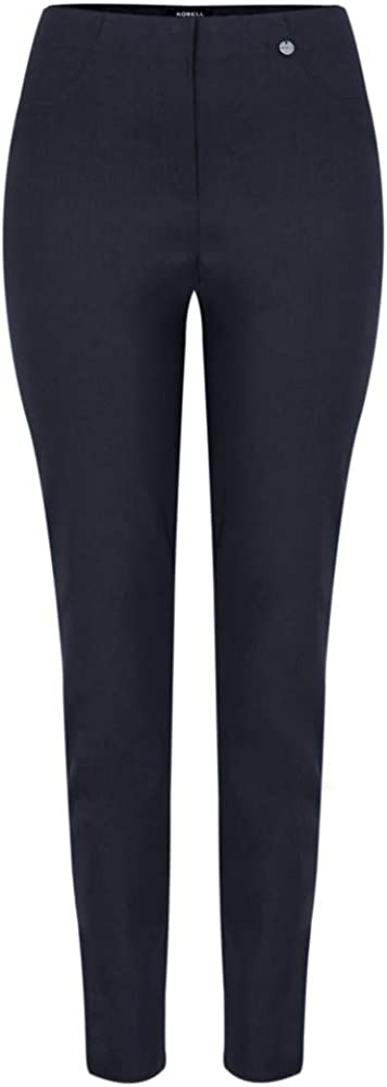 Robell - Bella 78cm Slim Fit Full Length Trouser, Navy 69 Navy 69