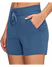 Boladeci Women's Summer Running Workout Athletic Yoga Gym Lounge Shorts with Pockets