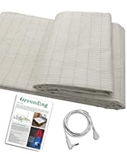 Earth Connection/ Grounding Mat Conductive Grounding sheet for Better Sleep, Silver Fabric ,Reduce Pain and Inflammation, Reconnect to the Earth EMF Recovery ,Fits full size beds ,Safe for Kids and Adults