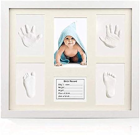 Marco huellas de manos y pies para recién nacidos, idea regalo para recién nacidos y madres.