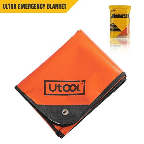 UTOOL Ultra Emergency Blanket Survival Blanket Heavy Duty Thermal Outdoor Waterproof Reusable Heat Retention Extra Large by UTOOL