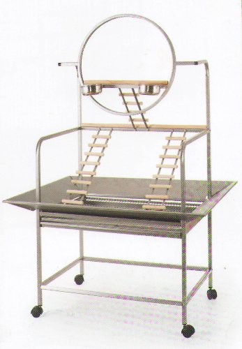 """Large Wrought Iron Parrot Bird Play Gym Stand 33"""" X 23"""" X 66"""
