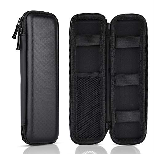 Kuuqa Black Hard Pencil Case EVA Hard Shell Pen Case Holder for Executive Fountain Pen and Stylus Touch Pen