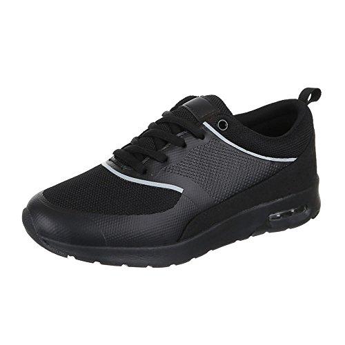 negro Zapatillas Ital de Negro para mujer Sintético Design Material UCnSxw6U