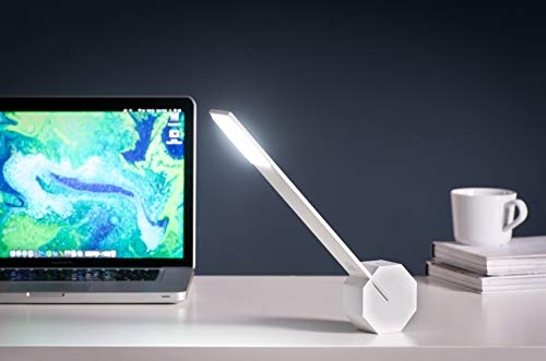 Gingko Octagon One Rechargeable Modern LED Desk Lamp Touch Sensitive White
