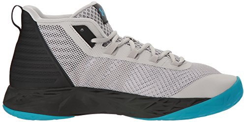 Under Armour Herren UA Jet Mid Basketballschuhe, Ghost Gray/Black/Ghost Gray