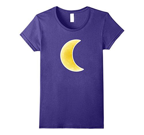 Womens Luna Half Moon T Shirt Halloween Costume for Men and Women Medium Purple