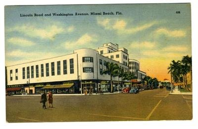 Liggett Rexall Drug Store Lincoln Road & Washington Ave in Miami Beach - Lincoln Stores Road In