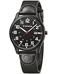 Men's 'City Active' Swiss Quartz Stainless Steel and Nylon Casual Watch, Color Black (Model: 01.1441.114)