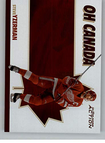 (2003-04 In The Game Action Oh Canada Hockey #OC3 Steve Yzerman Detroit Red Wings)