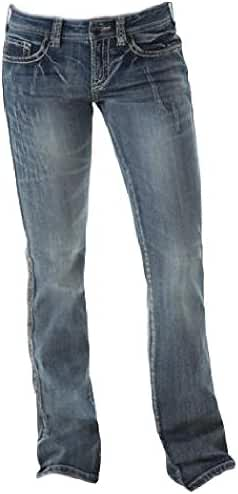 Cowgirl Tuff Western Denim Jeans Womens B & W Sanding Med JBAKWH