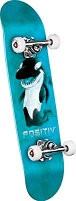 Positiv Andy Macdonald Walking Orca Complete Skateboard Blue 775-inch by POSITIV