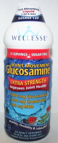 (Wellesse Extra Strength Joint Movement Glucosamine Natural Berry Flavor 33.8 fl oz)