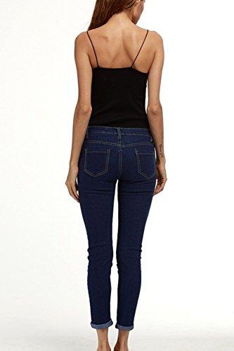 Taglia Slim Jeans Le Navy Normali Scappando Pantaloni Elastico Si Donne 8BAgqpF