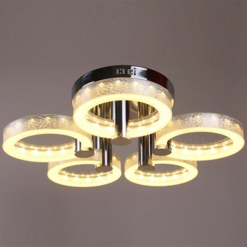 LightInTheBox Modern LED Acrylic Chandelier with 5 lights Chrome Flush Mount Light Source=Warm White,Voltage=90-240V