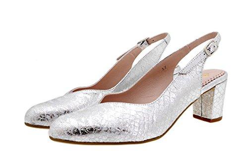 Nude Grabado Boalux Confort 180229 PieSanto Plata Zapato Salón 4w1qFExEp