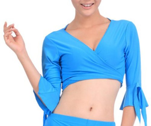 BellyLady Tribal Belly Dance Yoga Costume Wrap Top, Top For Christmas LAKEBLUE