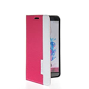 Prayker® Cartera Carcasa del tirón la cubierta Cuero protectora Caso Tapa para LG G3 Rosa